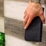 【バレンタインに贈りたいレザー小物】高級感漂うシボ革のお財布 PELLE MORBIDA/ペレ モルビダ