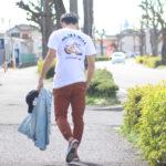 """TCSS""半袖Tシャツで大人のブラウンサーフコーデ"