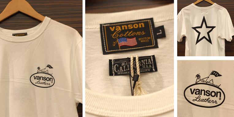 TESとVansonがコラボしたTシャツのディテール