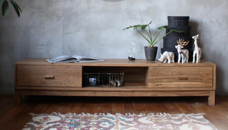 I-DEAK wooden TV board 1700/ アイデックウッデンテレビボード1700