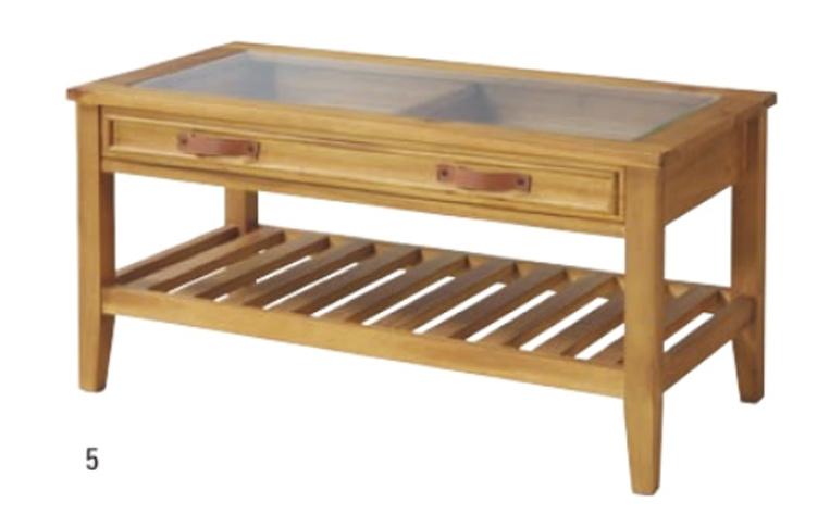 ROOMESSENCEのガラスとウッドのテーブルの写真