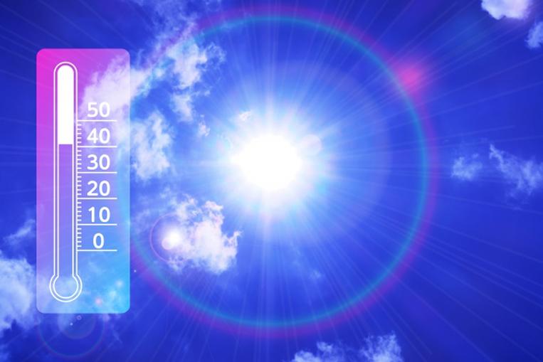 天気と気温のイメージ写真