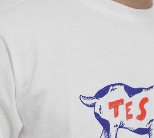 TESのTシャツの生地のアップ写真