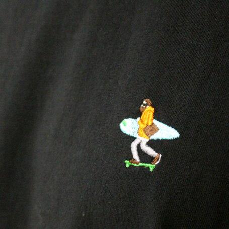 TESロンTの刺繍のアップ写真