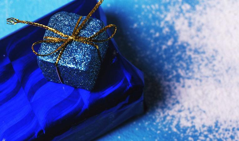 クリスマスギフトのBOX写真