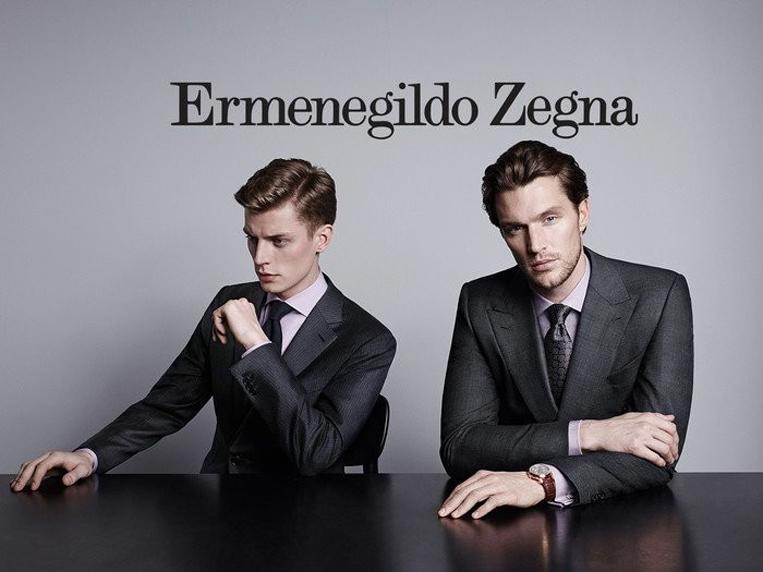 ゼニアのスーツを着た二人の男性