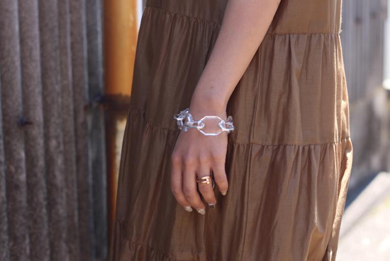 Clear acrylic chain Bracelet
