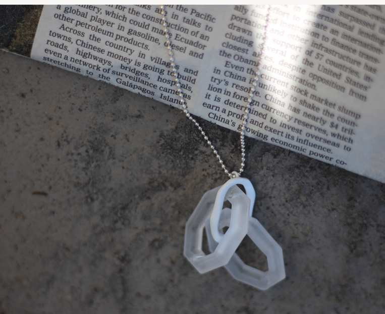 Frosted acrylic chain Necklace