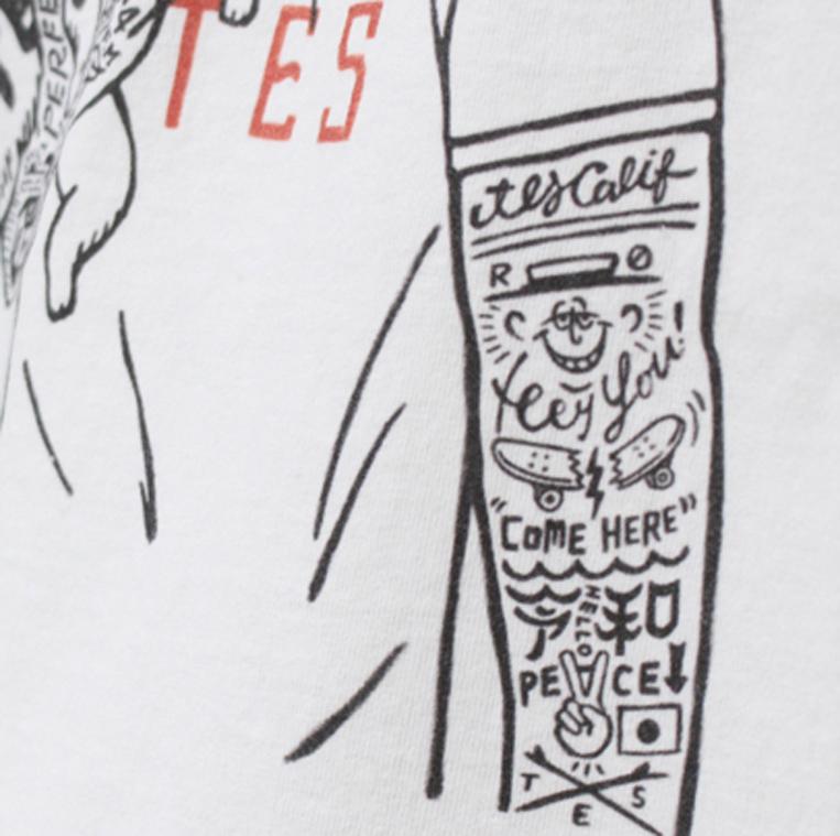 タトゥー部分のイラストのアップ