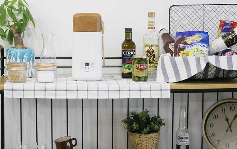 キッチンに並べられた発酵グルメポット