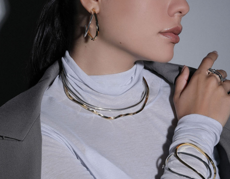 Sea'ds mara/シーズマーラのMix wave 3way choker